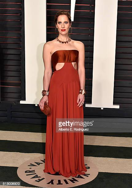 Filmmaker Liz Goldwyn attends the 2016 Vanity Fair Oscar Party hosted By Graydon Carter at Wallis Annenberg Center for the Performing Arts on...