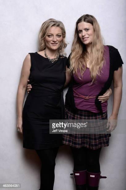 Filmmaker Lucy Walker and producer Marianna Palka pose for a portrait during the 2014 Sundance Film Festival at the WireImage Portrait Studio at the...