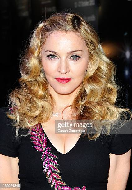 Filmmaker Madonna attends the 'WE' premiere during the 55th BFI London Film Festival at Empire Leicester Square on October 23 2011 in London England