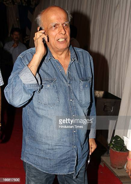 Filmmaker Mahesh Bhatt at Press conference of upcoming film Aashiqui 2 at Laxmi Studious Film City on April 15 2013 in Noida India