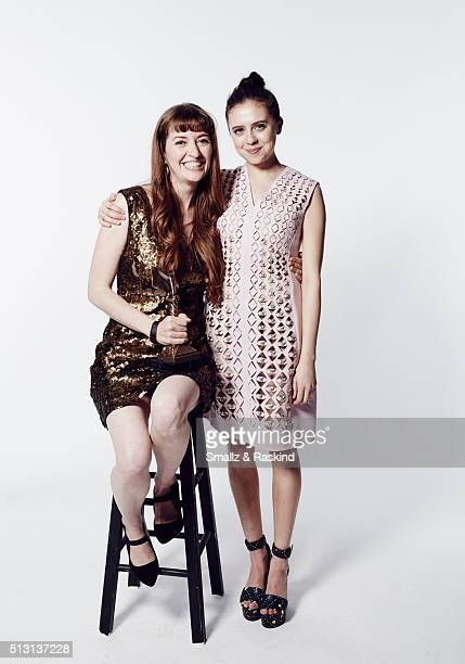 Filmmaker Marielle Heller and actress Bel Powley pose for a portrait at the 2016 Film Independent Spirit Awards after winning Best First Feature for...