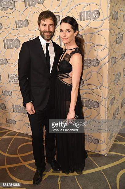 Filmmaker Mark Duplass and actress Katie Aselton attend HBO's Official Golden Globe Awards After Party at Circa 55 Restaurant on January 8 2017 in...
