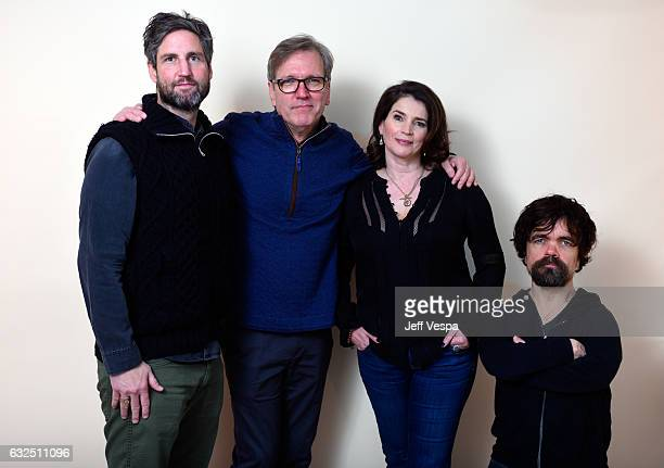 Filmmaker Mark Palansky and actors Martin Donovan Julia Ormond and Peter Dinklage from the film Rememory pose for a portrait in the WireImage...