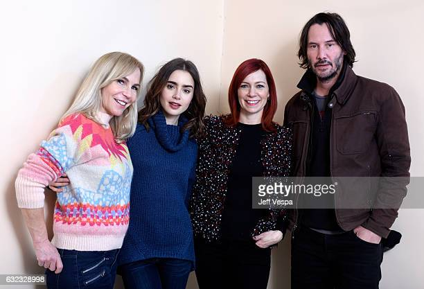 Filmmaker Marti Noxon actors Lily Collins Carrie Preston and Keanu Reeves from the film 'To the Bone' pose for a portrait in the WireImage Portrait...