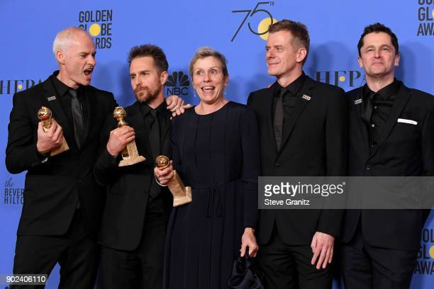 Filmmaker Martin McDonagh winner of the award for Best Screenplay actor Sam Rockwell winner of the award for Best Performance by an Actor in a...