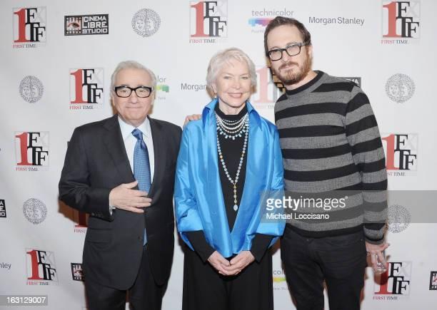 Filmmaker Martin Scorsese actress Ellen Burstyn and filmmaker Darren Aronofsky attend the closing night awards during the 2013 First Time Fest at The...