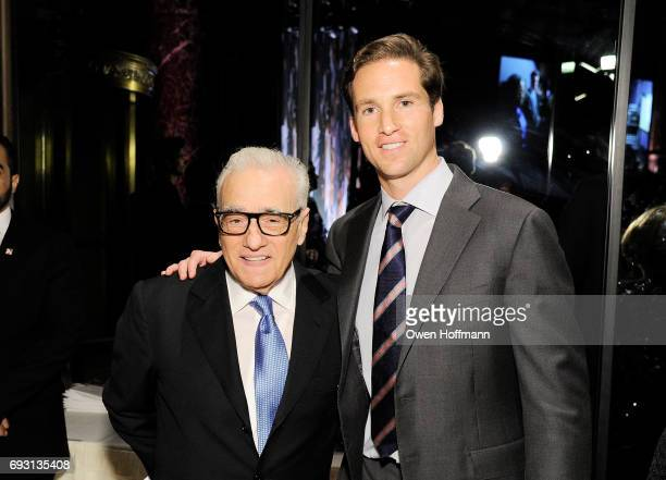 Filmmaker Martin Scorsese and executive Director of the Gordon Parks Foundation Peter Kunhardt Jr pose backstage during the Gordon Parks Foundation...