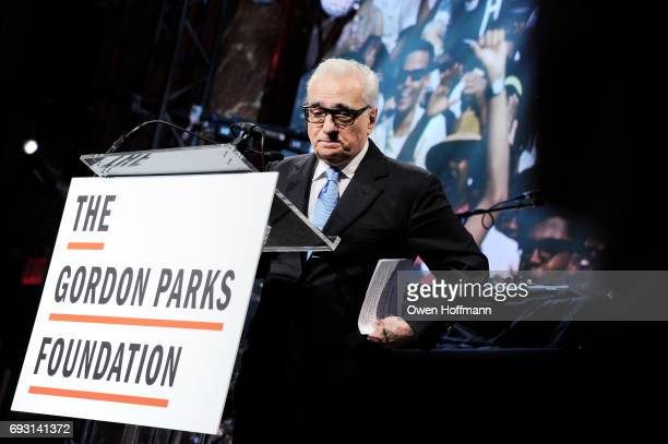 Filmmaker Martin Scorsese speaks onstage during the Gordon Parks Foundation Awards Dinner Auction at Cipriani 42nd Street on June 6 2017 in New York...