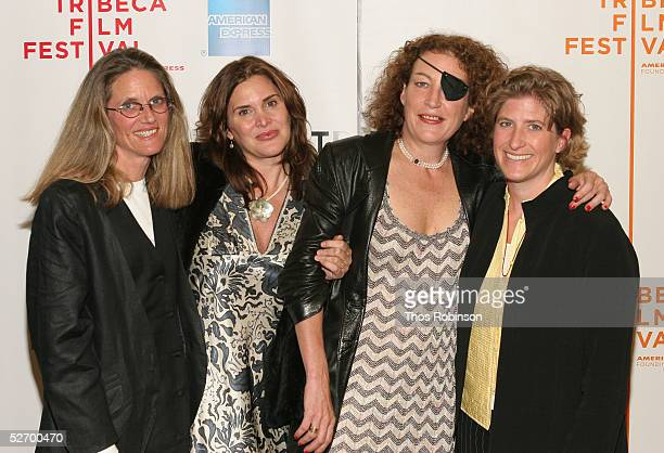 Filmmaker Mary Rogers journalist Janine di Giovanni Marie Colvin and journalist Molly Bingham attend the Bearing Witness screening at the Tribeca...