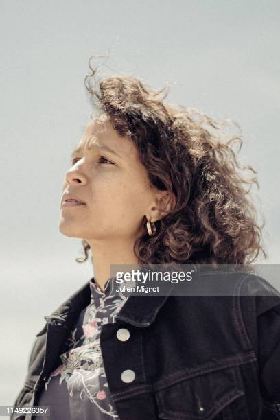 Filmmaker Mati Diop poses for a portrait on May 16 2019 in Cannes France