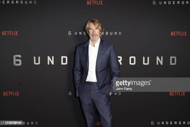 Filmmaker Michael Bay attends the 6 Underground Screening with Michael Bay at Silverspot Cinema Downtown Miami on December 14 2019 in Miami Florida