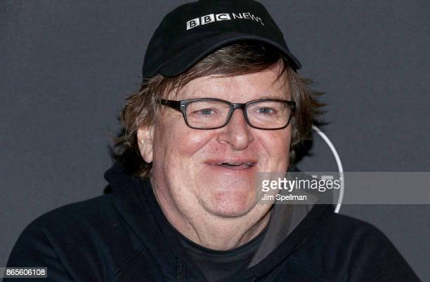Filmmaker Michael Moore attends the 'Flint' New York screening at NeueHouse Madison Square on October 23 2017 in New York City