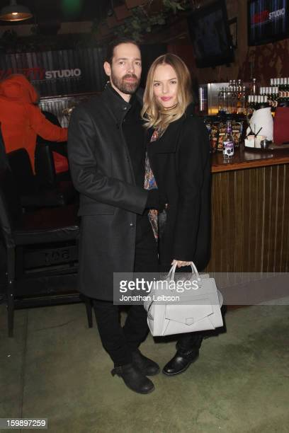 Filmmaker Michael Polish and actress Kate Bosworth attend Day 4 of the Variety Studio at 2013 Sundance Film Festival on January 22 2013 in Park City...