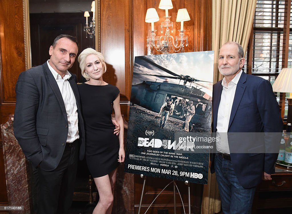 Filmmaker Michael Ware, Executive Producer Justine A. Rosenthal, and filmmaker Bill Guttentag attend the NYC screening of the HBO Documentary Film 'ONLY THE DEAD SEE THE END OF WAR' on March 23, 2016 in New York City.