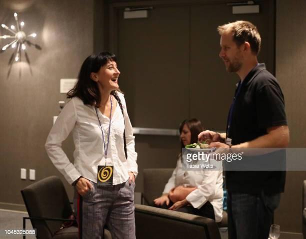 Filmmaker Michelle Ortega attends the opening party at the 2018 Santa Cruz Film Festival on October 3 2018 in Santa Cruz California