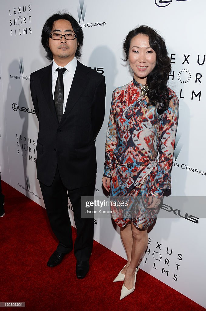 Filmmaker Mitsuyo Miyazaki (R) attends Lexus Short Film Series 'Life Is Amazing' presented by The Weinstein Company and Lexus at DGA Theater on February 21, 2013 in Los Angeles, California.