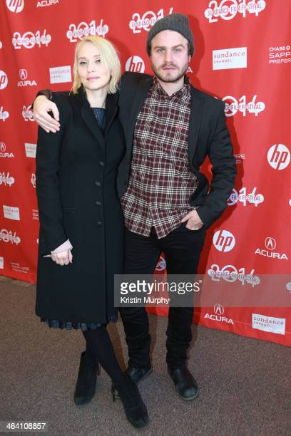 Filmmaker Mona Fastvold and Brady Corbet attend 'The Sleepwalker' Premiere during the 2014 Sundance Film Festival at Library Center Theater on...