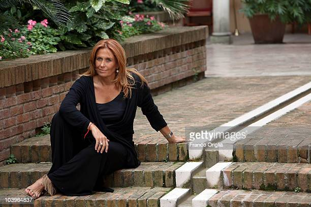 Filmmaker Monica Maggioni poses at the Ward 54 portrait session during the 67th Venice Film Festival on September 7 2010 in Venice Italy
