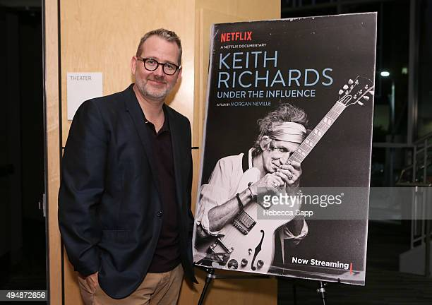 Filmmaker Morgan Neville attends Reel To Reel Keith Richards Under The Influence at The GRAMMY Museum on October 29 2015 in Los Angeles California
