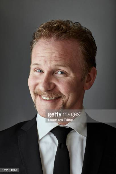 Filmmaker Morgan Spurlock is photographed for InStyle Magazine on January 23 2011 at the Sundance Film Festival in Park City Utah Photo by Larsen and...
