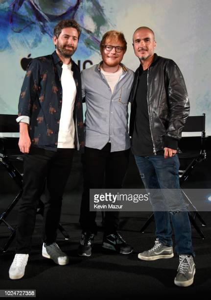 Filmmaker Murray Cummings Ed Sheeran and Apple Music's Zane Lowe attend Apple Music Presents Songwriter With Ed Sheeran in Los Angeles at ArcLight...