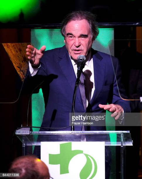 Filmmaker Oliver Stone speaks onstage during the 14th Annual Global Green Pre Oscar Party at TAO Hollywood on February 22 2017 in Los Angeles...