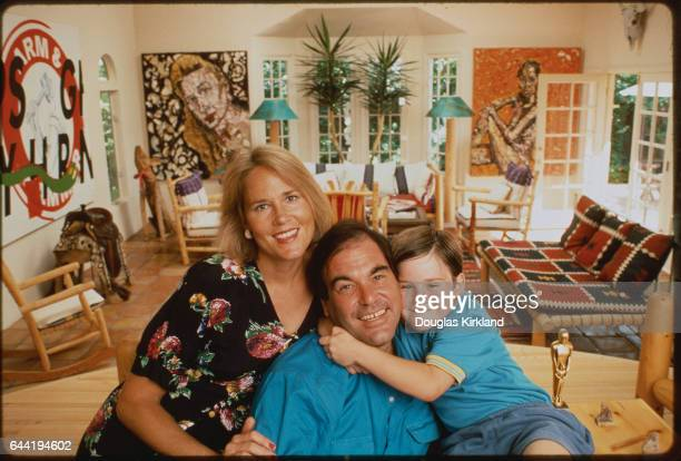 Filmmaker Oliver Stone with Family