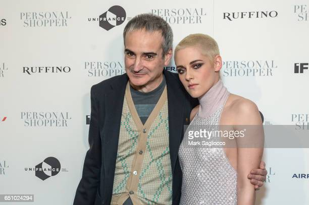 Filmmaker Olivier Assayas and Actress Kristen Stewart attends the 'Personal Shopper' New York Premiere at Metrograph on March 9 2017 in New York City