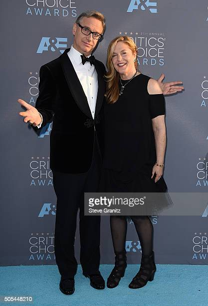 Filmmaker Paul Feig and Laurie Feig attend the 21st Annual Critics' Choice Awards at Barker Hangar on January 17 2016 in Santa Monica California