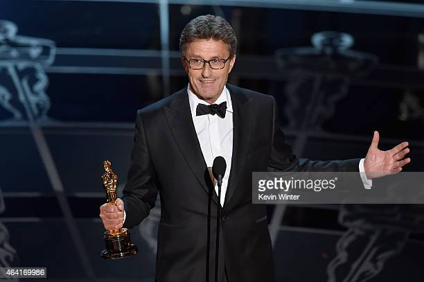 Filmmaker Pawel Pawlikowski accepts the Best Foreign Language Film Award for Ida onstage during the 87th Annual Academy Awards at Dolby Theatre on...