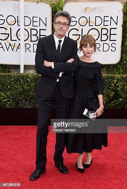 Filmmaker Pawel Pawlikowski and actress Agata Trzebuchowska attend the 72nd Annual Golden Globe Awards at The Beverly Hilton Hotel on January 11,...