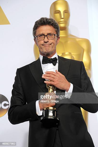 Filmmaker Pawel Pawlikowski winner of the Best Foreign Language Film Award for 'Ida' poses inside the press room of the 87th Annual Academy Awards...