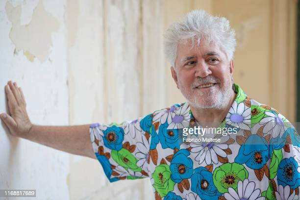 Filmmaker Pedro Almodovar poses for a portrait on August 30, 2019 in Venice, Italy.