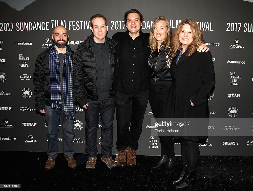 Filmmaker Pedro Kos, Filmmaker Kief Davidson, Todd McCormack, Marika Anthony-Shaw and Writer Cori Shepherd Stern attend the 'Bending The Arc' Premiere at Library Center Theater on January 23, 2017 in Park City, Utah.