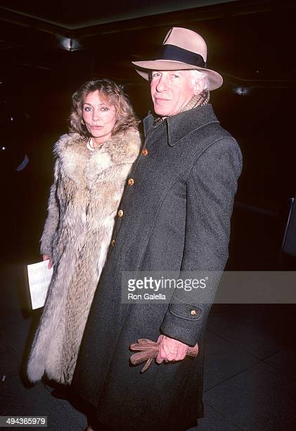 Filmmaker Peter Gimbel and wife Elga Andersen attend The Falcon and the Snowman New York City Premiere on January 18 1985 at the Roy Niuta Titus...