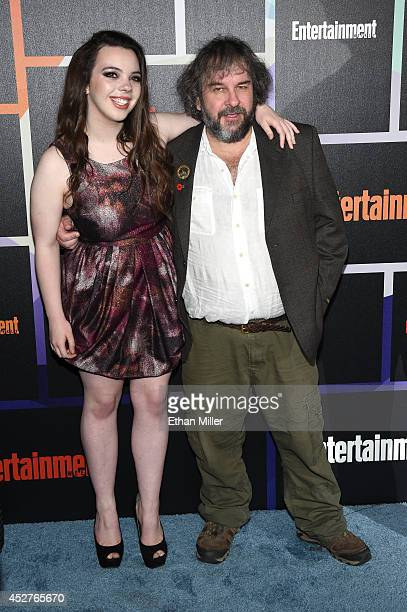 Filmmaker Peter Jackson and daughter Katie Jackson attend Entertainment Weekly's annual ComicCon celebration at Float at Hard Rock Hotel San Diego on...