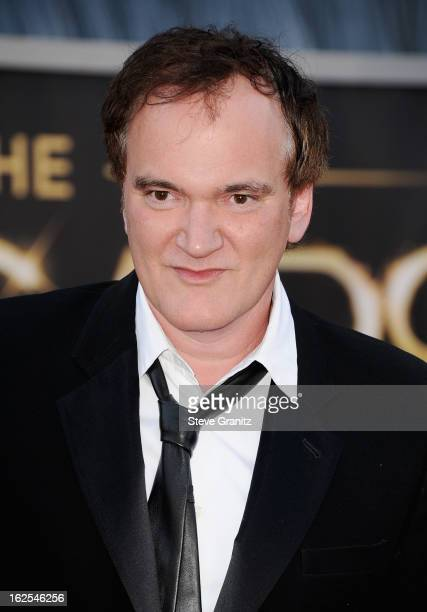 Filmmaker Quentin Tarantino arrives at the Oscars at Hollywood Highland Center on February 24 2013 in Hollywood California