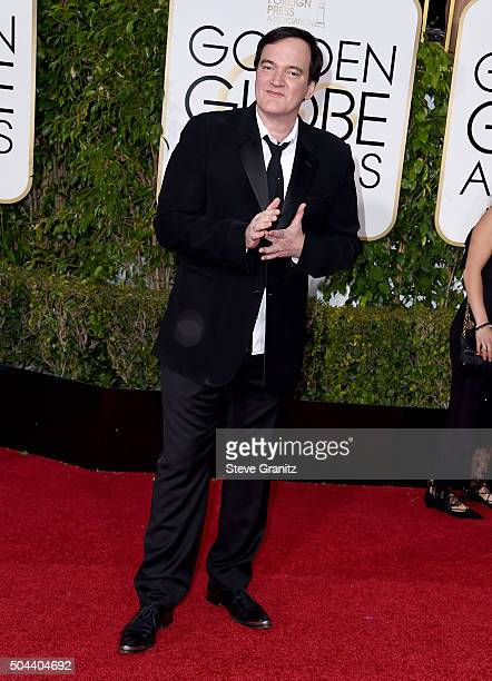 Filmmaker Quentin Tarantino attends the 73rd Annual Golden Globe Awards held at the Beverly Hilton Hotel on January 10 2016 in Beverly Hills...