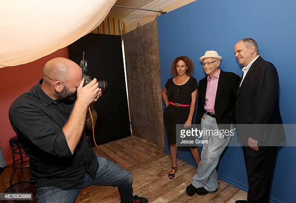 Filmmaker Rachel Grady Norman Lear and executive producer Michael Kantor of WNET's 'American Masters Norman Lear' attend the Getty Images Portrait...