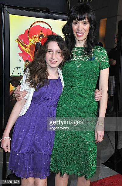 Filmmaker Ramaa Mosley and her daughter Isobel arrives to the LA screening of Magnolia Pictures' 'The Brass Teapot' at ArcLight Hollywood on March 21...