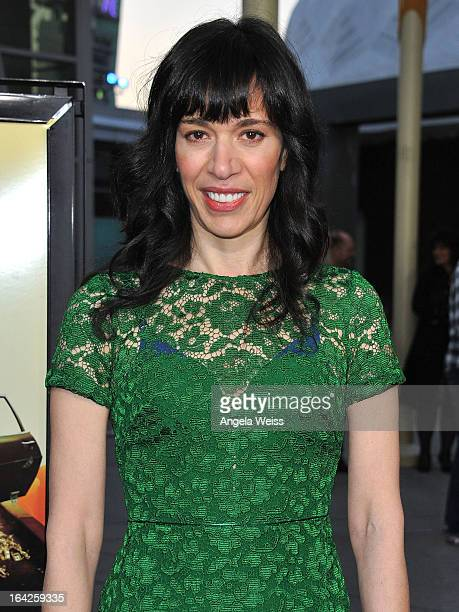 Filmmaker Ramaa Mosley arrives to the LA screening of Magnolia Pictures' 'The Brass Teapot' at ArcLight Hollywood on March 21 2013 in Hollywood...