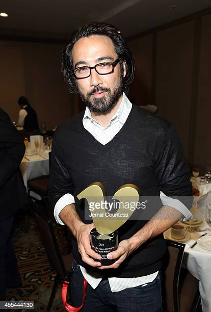 Filmmaker Randall Okita winner of the Vimeo Award for Best Canadian Short Film Award for 'The Weatherman and the Shadowboxer' attends the TIFF Awards...