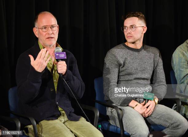 Filmmaker Randy Barbato and figure skater Adam Rippon attend the Los Angeles special screening of Stonewall Outloud at The Landmark Westside Pavilion...