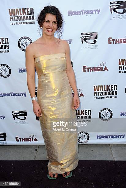 Filmmaker Rebecca Thomson arrives for the 2014 Etheria Film Night held at American Cinematheque's Egyptian Theatre on July 12 2014 in Hollywood...