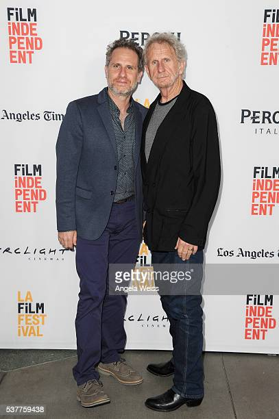 Filmmaker Remy Auberjonois and actor Rene Auberjonois attend the premiere of 'Blood Stripe' during the 2016 Los Angeles Film Festival at Arclight...