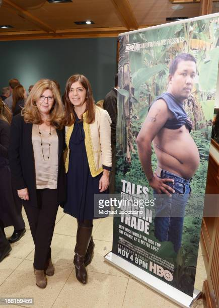 Filmmaker Ric Esther Bienstock and SVP of HBO Documentary Films Nancy Abraham attend a special screening of HBO's Tales From the Organ Trade at The...