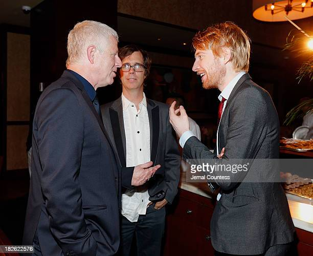 Filmmaker Richard Curtis singersongwriter Ben Folds and actor Domhnall Gleeson attend the after party for the About Time Jimmy P Psychotherapy Of A...