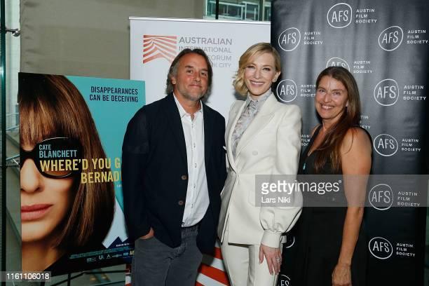 Filmmaker Richard Linklater, actress Cate Blanchett and producer Ginger Sledge attend The Austin Film Society and Australian International Screen...