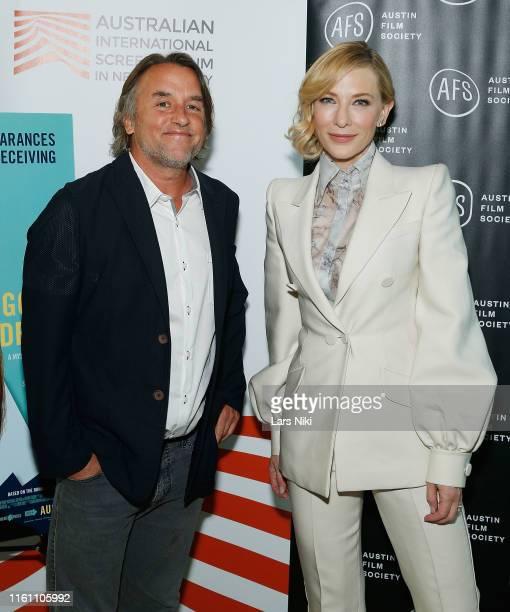 "Filmmaker Richard Linklater and actress Cate Blanchett attend The Austin Film Society and Australian International Screen Forum ""Where'd You Go,..."