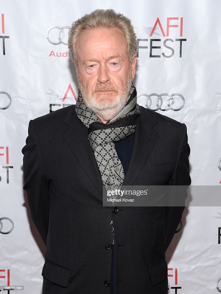 Filmmaker Ridley Scott attends 'On Directing: A Conversation with Ridley Scott' during AFI FEST 2015 presented by Audi at TCL Chinese 6 Theatres on November 11, 2015 in Hollywood, California.